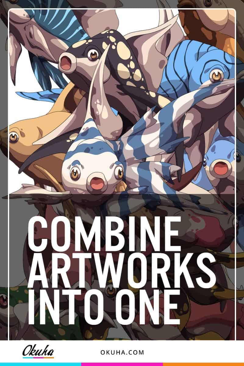 Combine Artworks Into One fish, fish pack, how to draw, learn to draw, anime, manga, art tutorial, art drawing, drawing tutorial, art tutorial, drawing #drawings #illustrations #anime #manga #wip #awesome #drawingtutorial #howtodraw #stepbystep https://okuha.com