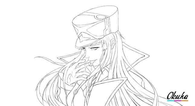 Darling in the FranXX - Almost Lineart How_To_Draw_Zero_Two