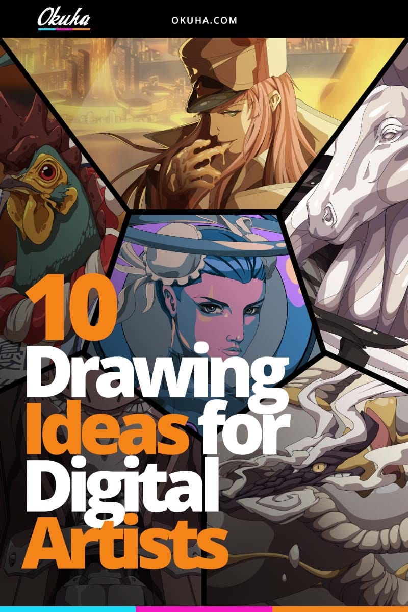 10 Drawing Ideas For Digital Artists Okuha Free Digital Art Tutorials