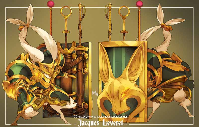 Character Design Jacques Leveret by heavymetalhanzo