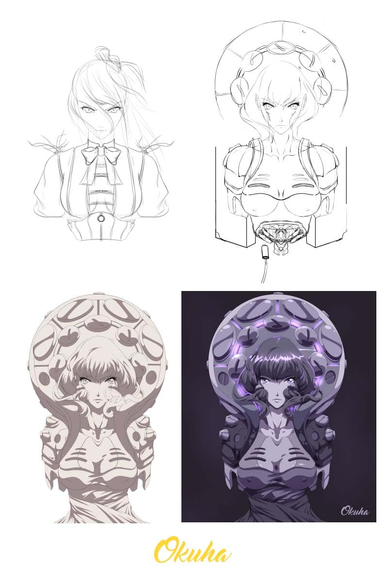 how_to_get_back_into_drawing_again_example_process