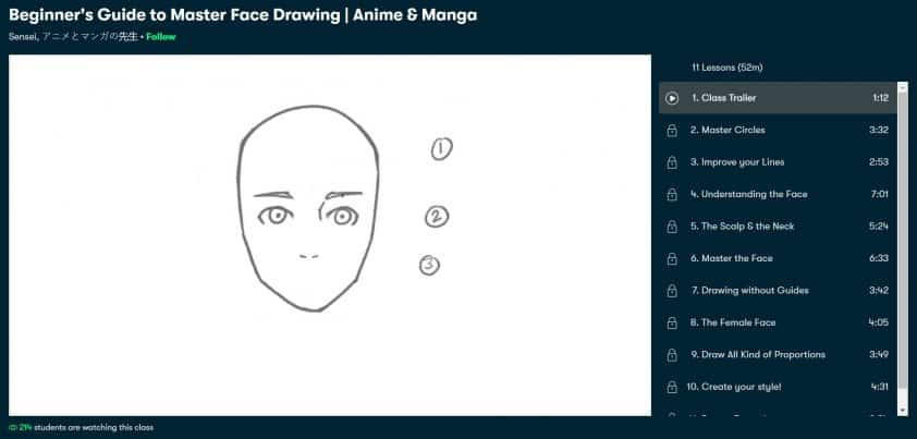 Beginner's Guide to Master Face Drawing - Anime & Manga_The_Best_Anime_And_Manga_Courses_Classes_Today