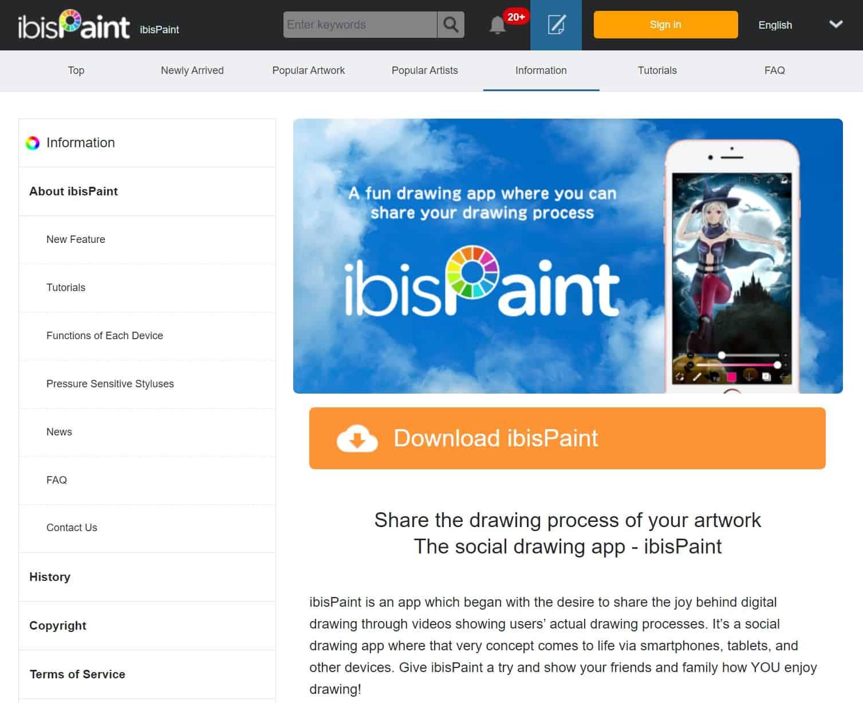 iBisPaint_homepage_best_anime_manga_drawing_app