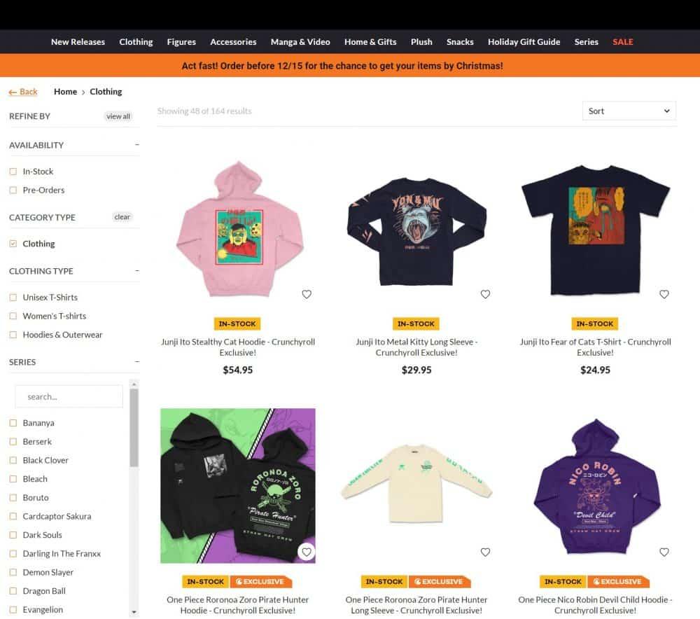 chrunchyroll_anime_clothing_store