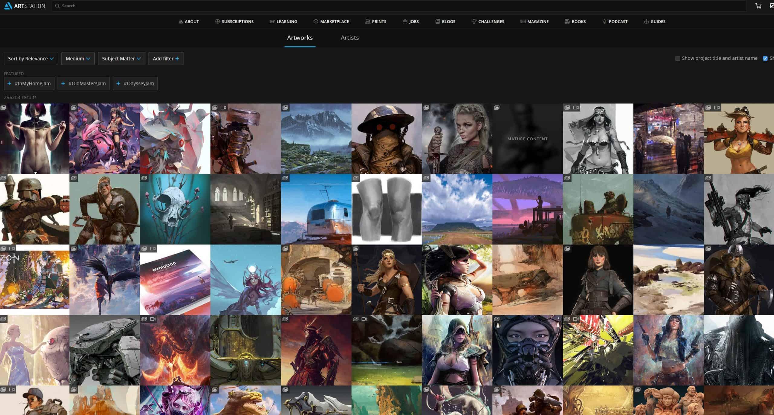 digital_art_websites_artstation