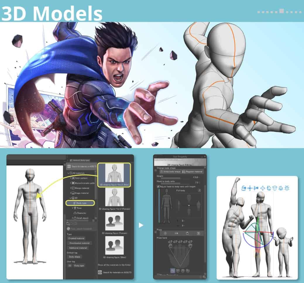 clip_studio_paint_3D Models
