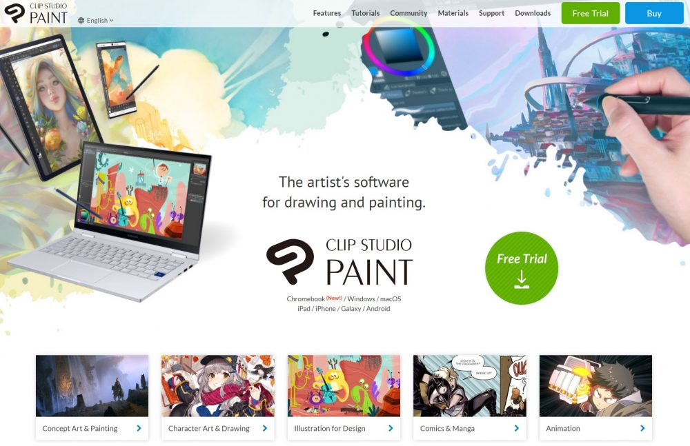 clip_studio_paint_homepage