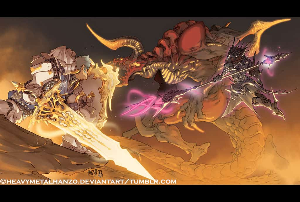 final_fantasy_xiv_battle_against_ifrit_by_heavymetalhanzo_d9yb1o2-fullview